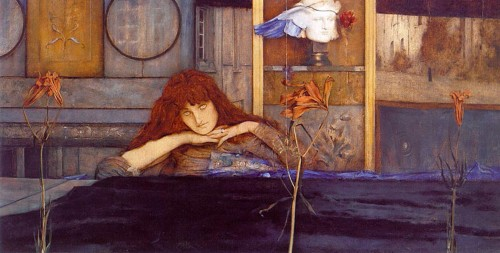 Fernand_Khnopff_-_I_lock_my_door_upon_myself